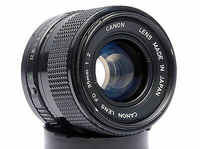 Canon FD 35mm 1:2 Wide Angle Lens in Excellent condition