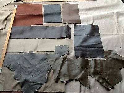 Italian Leather Hide Offcuts 8 Pieces