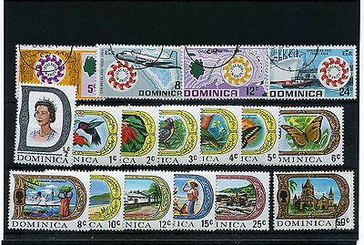 Dominica.17--1969 Mounted Mint / Used Stamps On Stockcard