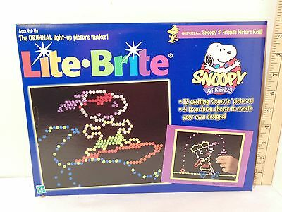 Lite Brite Refill Sheets Snoopy And Friends Sealed 1999 Hasbro USA