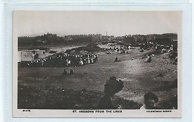Rare Original Old Postcard St Andrews From The Links Dated 1910 Real Photo