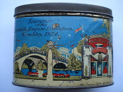 Scarce Mackintoshes Souvenir Of The British Empire Exhibition Wembley 1924 Tin