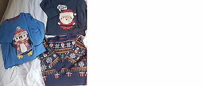 Boys Christmas Jumper and T-Shirts age 2-3 years