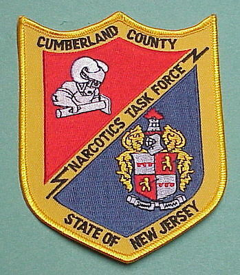 Cumberland  County  New Jersey  Nj   Narcotics Task Force   Police Patch
