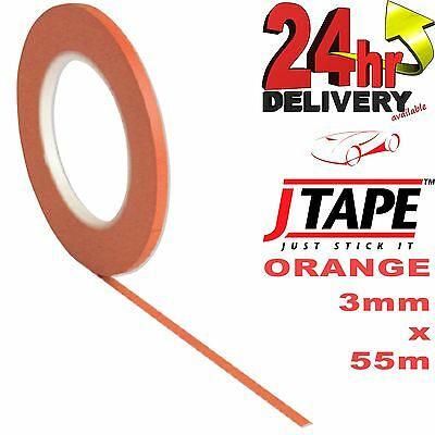 JTape ORANGE Fine Line Masking tape Detailing Heat Resistant 150°C 3mm 55m Long