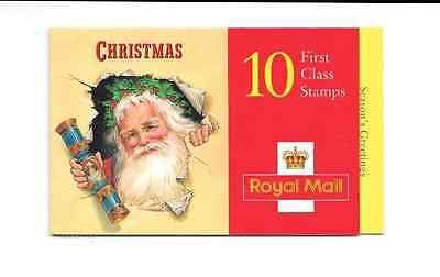 GB 1997 Christmas 1st Class Stamps Barcode Booklet - LX 13
