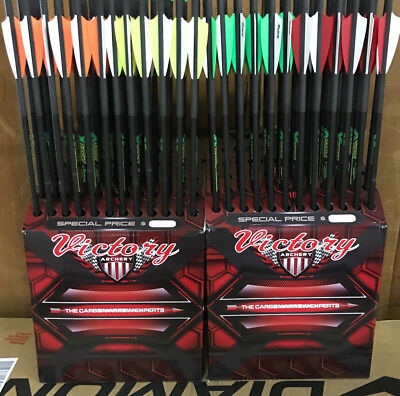 "Pse Fang Xt Lt Crossbow Bolts Victory 12 Half Moon 20"" Carbon Arrows"