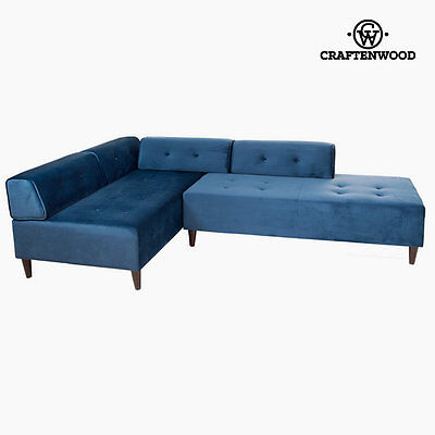 Divano con penisola Chaise lounge blu ceos by Craftenwood