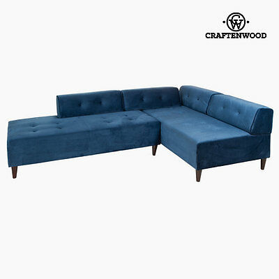 Divano con penisola Chaise lounge blu kea by Craftenwood