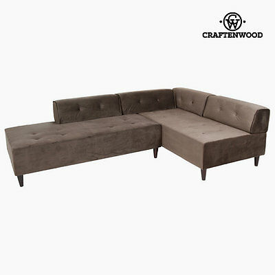 Divano con penisola Chaise lounge grigia ceos by Craftenwood