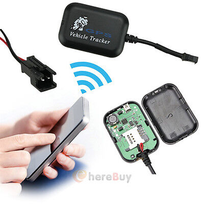 Mini GPS GSM GPRS Tracking SMS Real Time Vehicle Motorcycle Monitor Tracker US