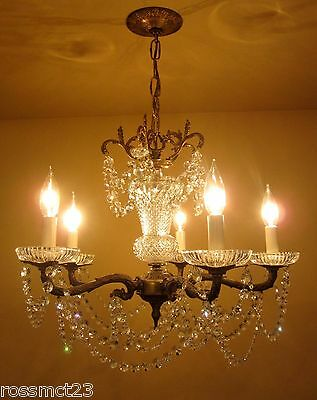 Vintage Lighting 1970s Strass crystal chandelier   Distinctive Details