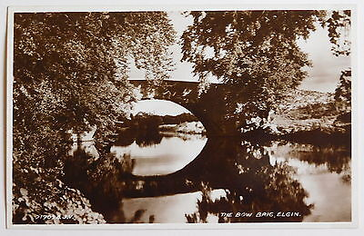 ELGIN, The Bow Brig, Moray RP - 1930's - Vintage postcard