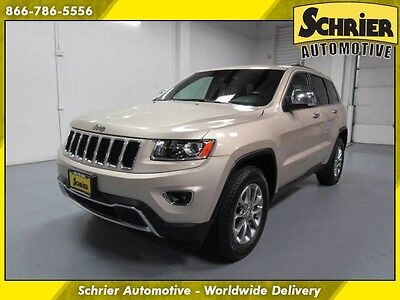 2015 Jeep Grand Cherokee Limited Sport Utility 4-Door 15 Jeep GC Gold 4WD Power Lift Gate Remote Start Heated Leather
