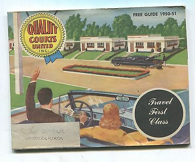 1950 VINTAGE QUALITY COURTS COURTS Inc TRAVEL GUIDE
