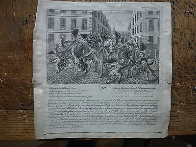 1756 Were you in Effigy to Burn Scarce original Eng Whig Politician