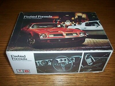 Vintage  Mpc 1975 Pontiac Formula Firebird Promo Model Kit/ Unbuilt- Annual