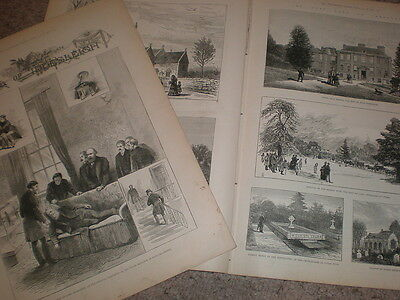Death of Stafford Northcote 1st Earl of Iddesleigh 1887 old prints and article