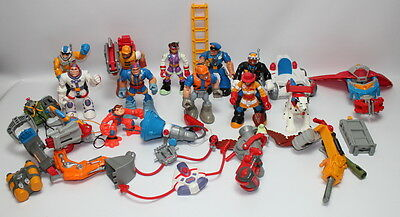 Fisher Price Rescue Heroes Lot,  Figures Animals Vehicles Firemen