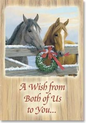 Xmas Cards From Both Of Us HORSE Holiday Cards 10 per box