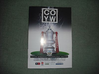 Dover Athletic  V  Cambridge United  (Fa Cup 1St Round Replay)  17-11-2016