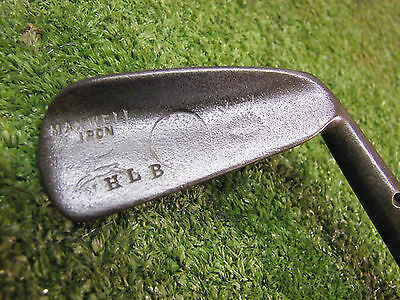 Vintage hickory Maxwell Iron Stag mark old golf memorabilia