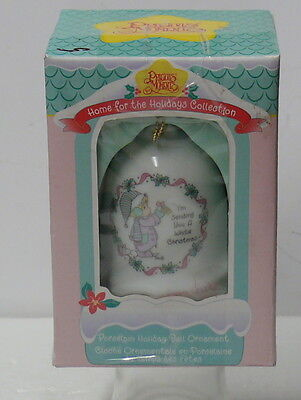 Precious Moments   Porcelain Holiday Bell Ornament  Complete Package