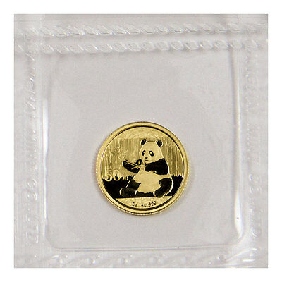 2017 China 50 Yuan 3g Gold Panda Sealed in Mint Plastic SKU44579