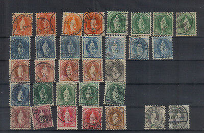Switzerland 1882-1904 Extensive used collection