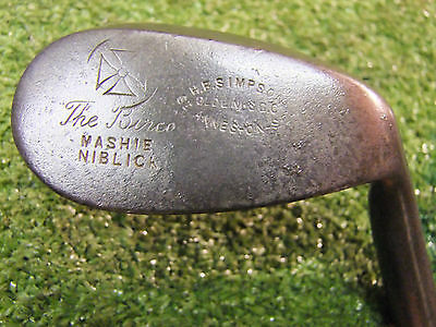 Playable Vintage hickory Mashie Niblick HB Simpson St Annes old golf memorabilia