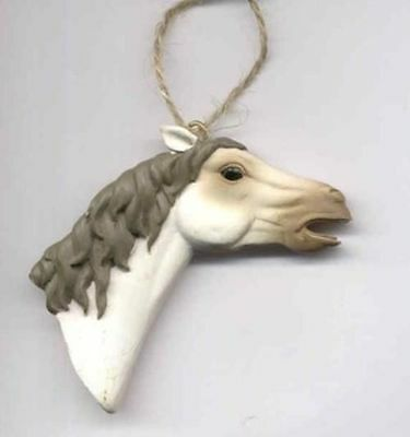 Horse Ornament MUSTANG Horse Gray Xmas Ornament CLEARANCE SALE