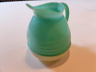 Vintage 1950S Plastic Two Tone Green And Cream Jug
