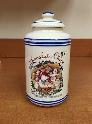 Lenox Fine Porcelain BAKERS DOZEN Chocolate Chips Canister 1995