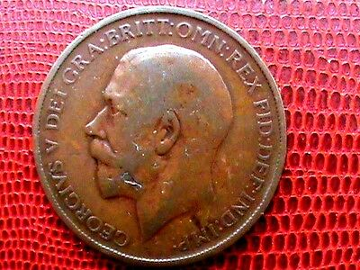 King George V 1911 Penny  As Photographed.