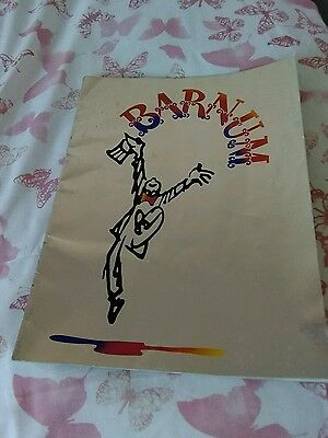 Barnum theatre programme..michael crawford..handsigned