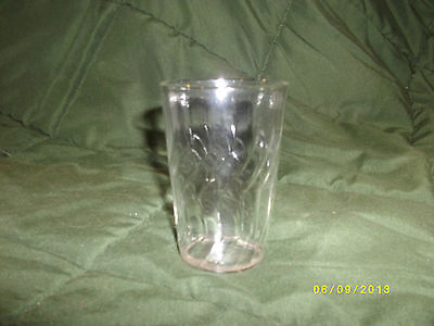 "Tiny Swirl design Tumbler ~ Clear Glass, Approx. 3""H"