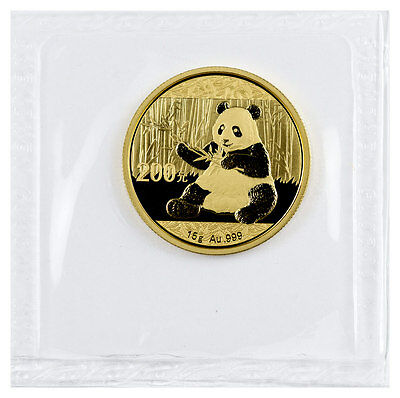 2017 China 200 Yuan 15g Gold Panda Sealed in Mint Plastic SKU44587