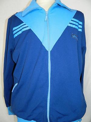 Vintage 1970s Oldschool Adidas Tracksuit Top Casuals retro tracky size Large
