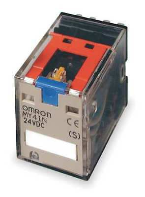 OMRON MY4IN-DC24(S) Push to Test Relay, 14Pin, 4PDT, 5A, 24VDC