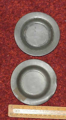 PEWTER  Dishs X 2 Very old London Maker