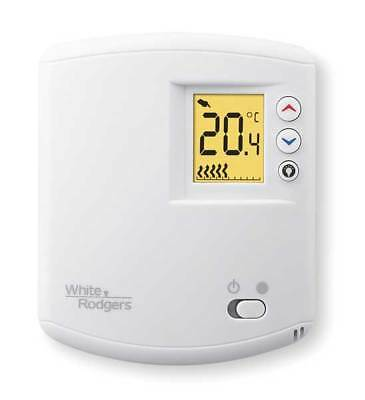 White-Rodgers Line Voltage Thermostat, 120 to 240VAC, 1 Stage, 1E65-144