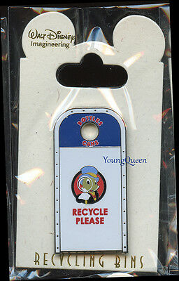 WDI Disney Cast Recycle Bins Jiminy Cricket Trash Can Toontown Le 300 Pin