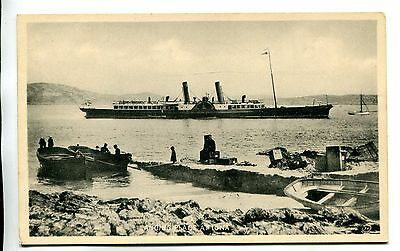 Undated Unused Ppc. The Paddle Steamer Grenadier At Iona, Scotland.