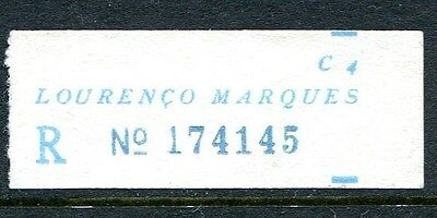 Lourenco Marques, Mozambique. An Early, Very Scarce Blue Registration Label.