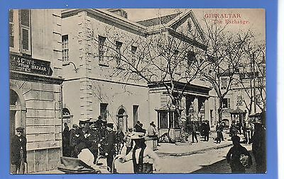 EARLY 1907c HORSE & CARTS EXCHANGE ARMY GIBALTAR LOCAL CUMBO VINTAGE POSTCARD