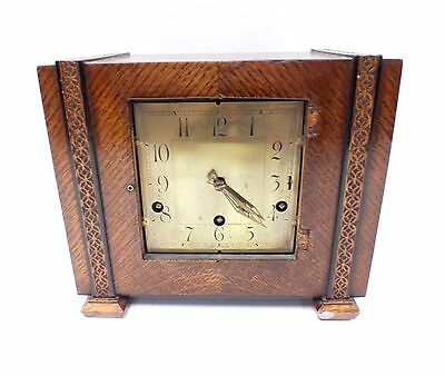 Beautiful Vintage MANTLE CLOCK Restoration Project With Pendulum & Key - W51