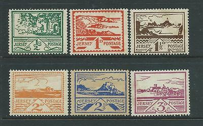 Set of 6 mounted MINT Jersey stamps SGJ3-8.