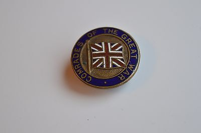 Comrades Of The Great War Enamel Button Badge