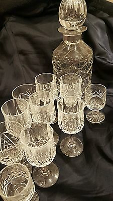 Decanter & Sherry Glasses
