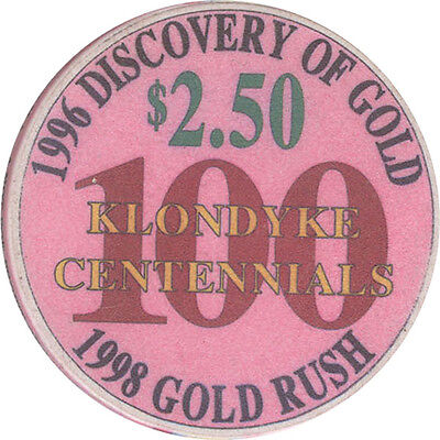 Diamond Tooth Gertie's - Gold Rush Centenniial - $2.50 Casino Chip